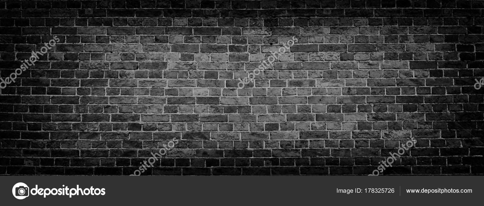 Black old brick wall panoramic background in high resolution stock black brick wall panoramic background high resolution panorama photo by interpas voltagebd Images