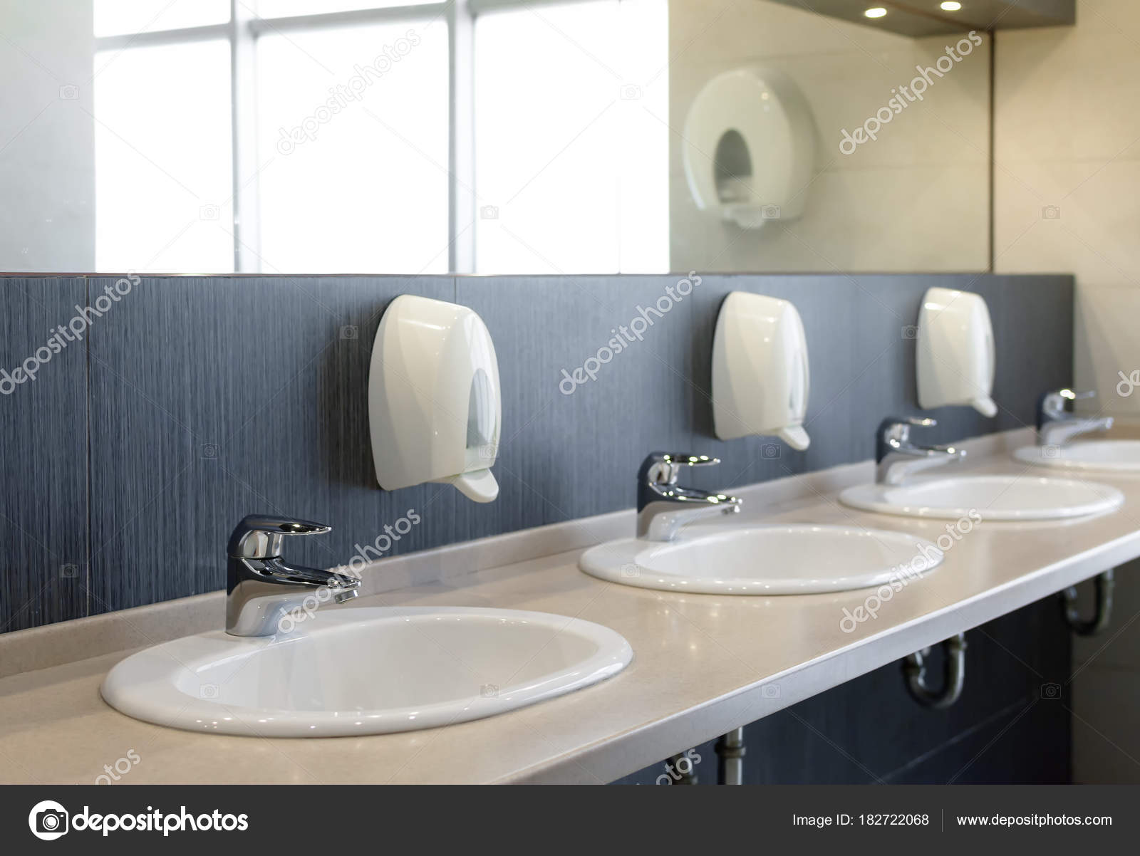 public restroom with sinks faucets and mirror u2014 stock photo public bathroom sink20 sink