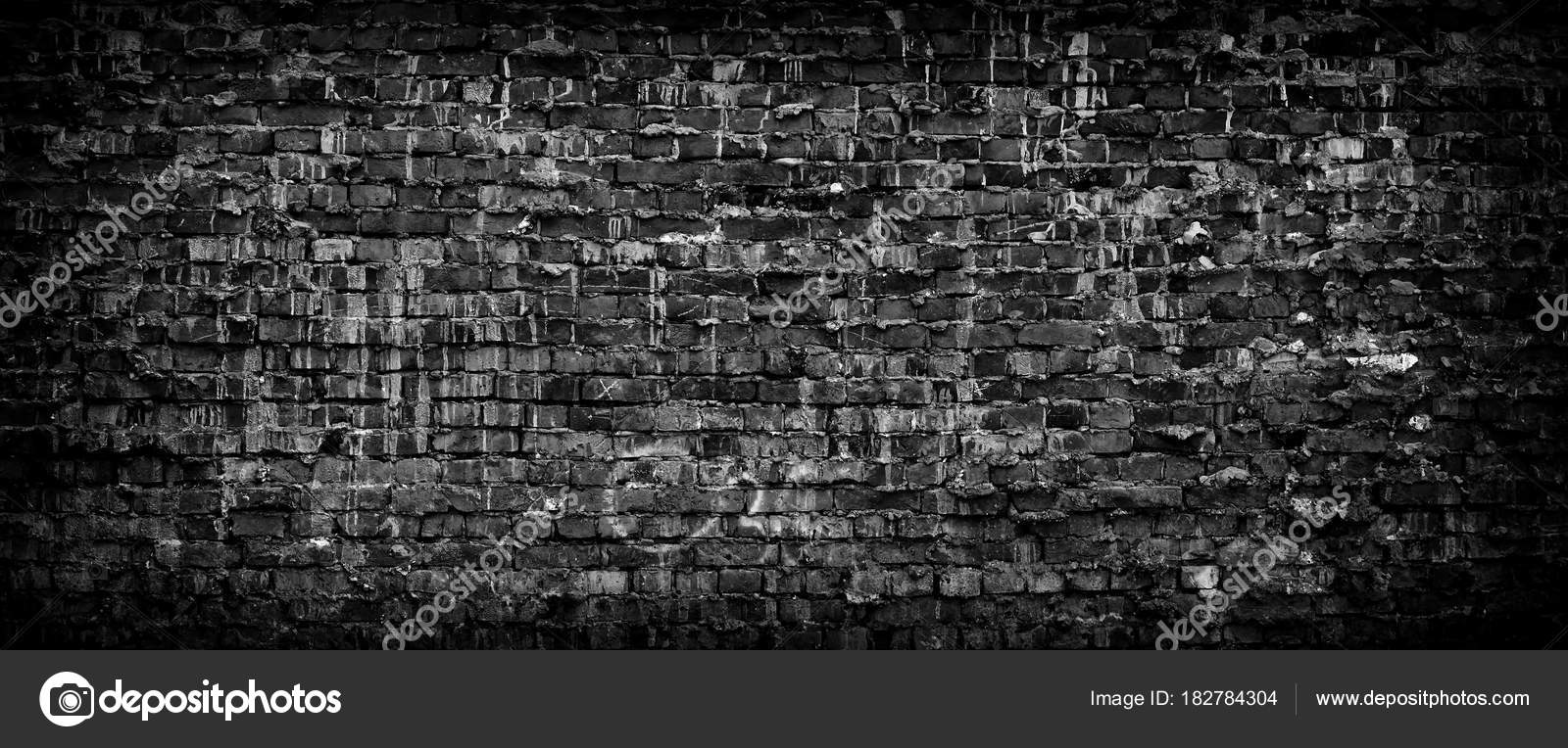 Black grunge brick wall panoramic background stock photo black grunge brick wall background wide high resolution panorama of old brickwork photo by interpas voltagebd Images