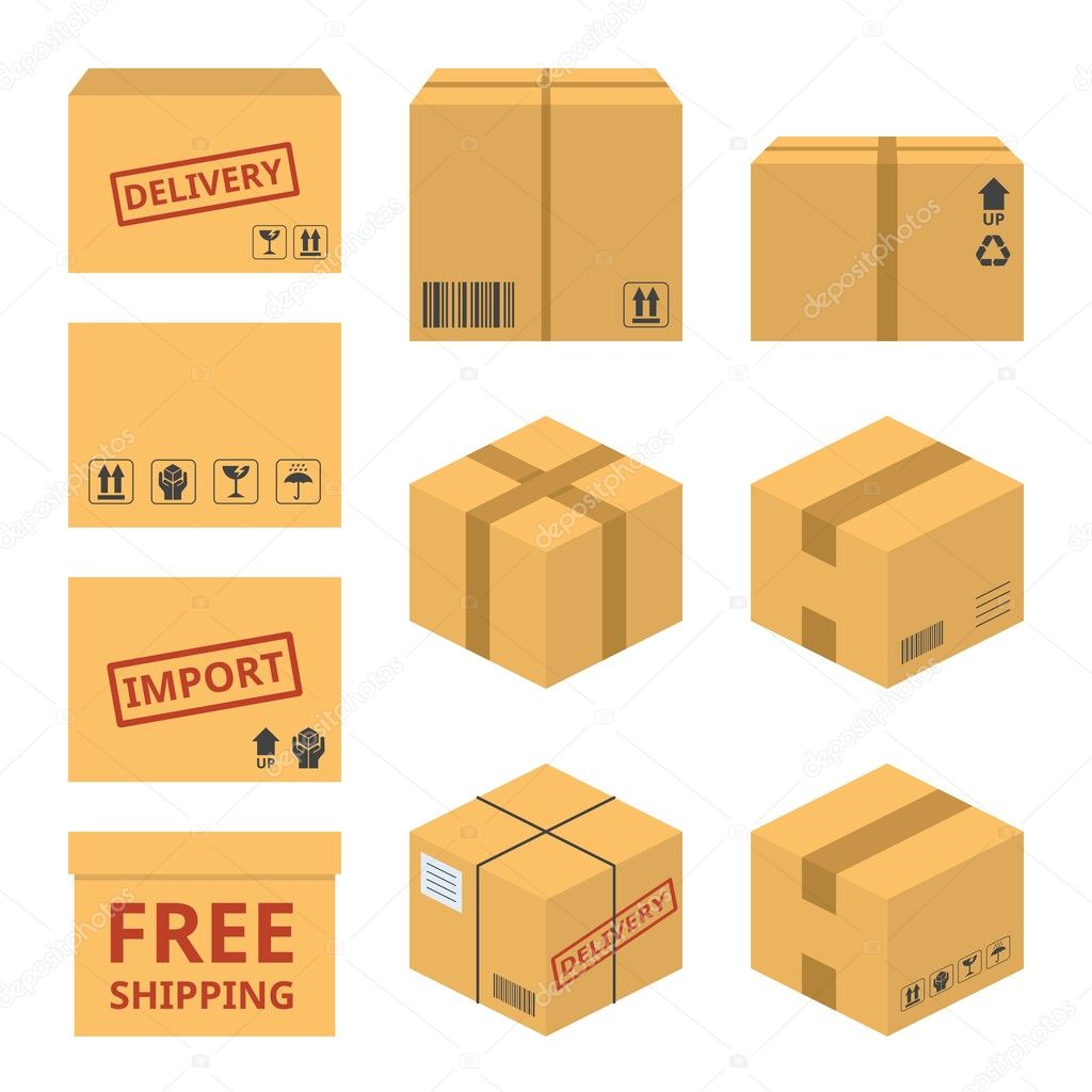 Shipping Delivery: Delivery Service Concept Icon Illustration Vector, Parcel