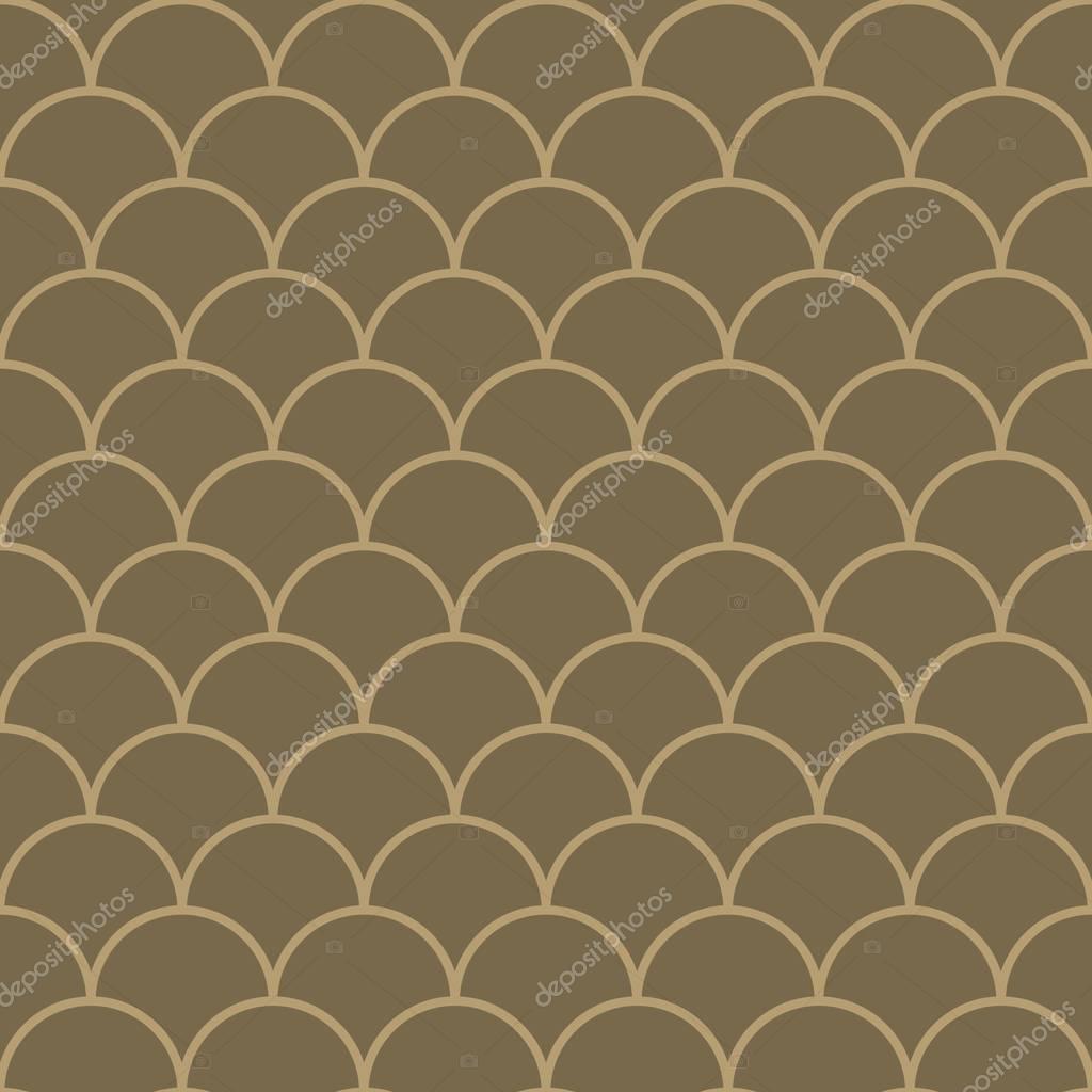 Nahtlose Muster Marokkanischen VintageStil Dünne Linie Fisch Skala - Fliesen vintage stil