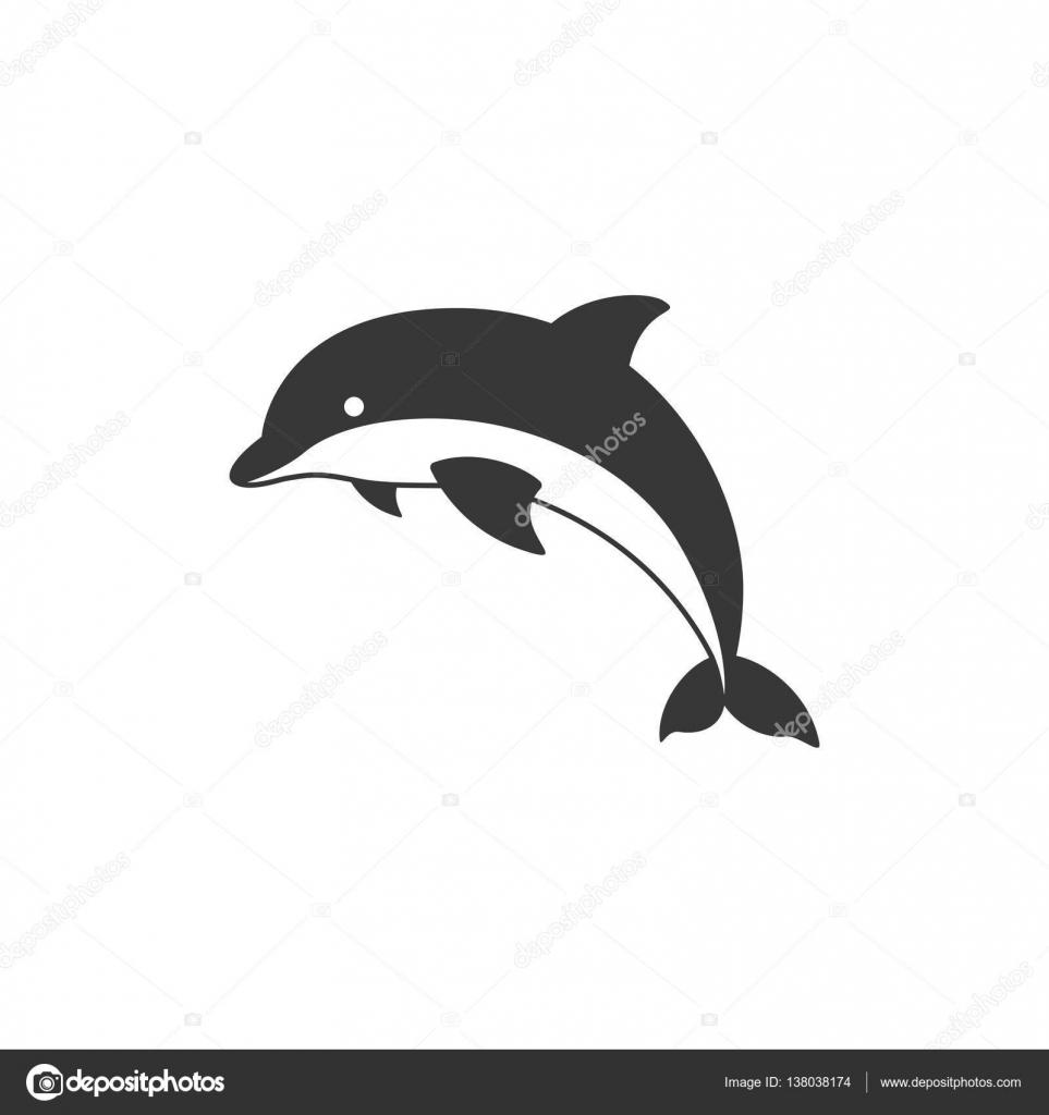 vetor de ícone silhueta golfinho vetores de stock lukpedclub