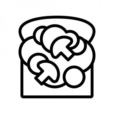Sandwich vector, fast food related line style icon