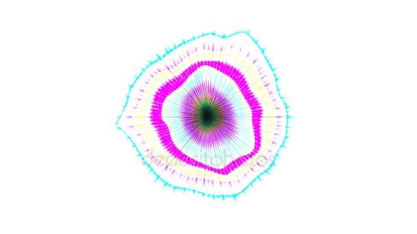 Abstraktní barevné vzor s bílé pozadí 3