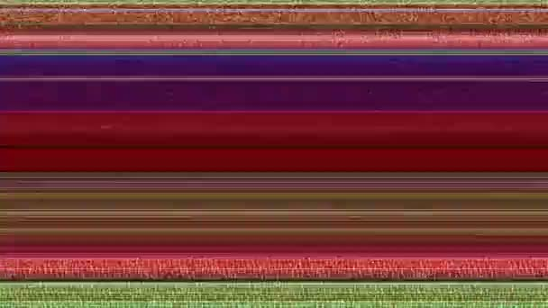 Multicoloured Horizontal Lines With Static 2 A computer generated abstract  animation of multicoloured horizontal lines and TV static