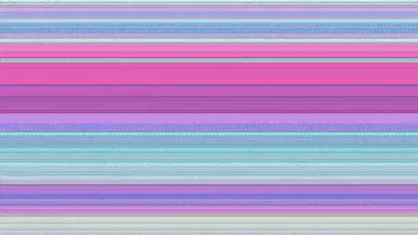 Multicoloured Horizontal Lines With Static 6 A computer generated abstract  animation of multicoloured horizontal lines and TV static