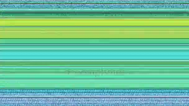 Multicoloured Horizontal Lines With Static 13 A computer generated abstract  animation of multicoloured horizontal lines and TV static