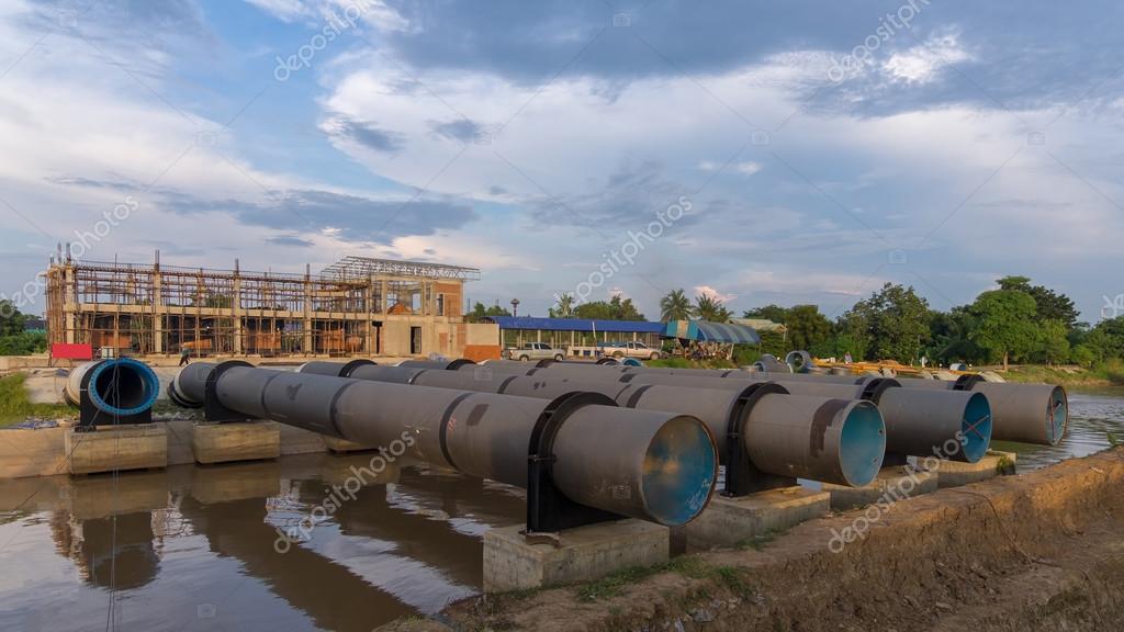 water pipe largeDuring the repair,