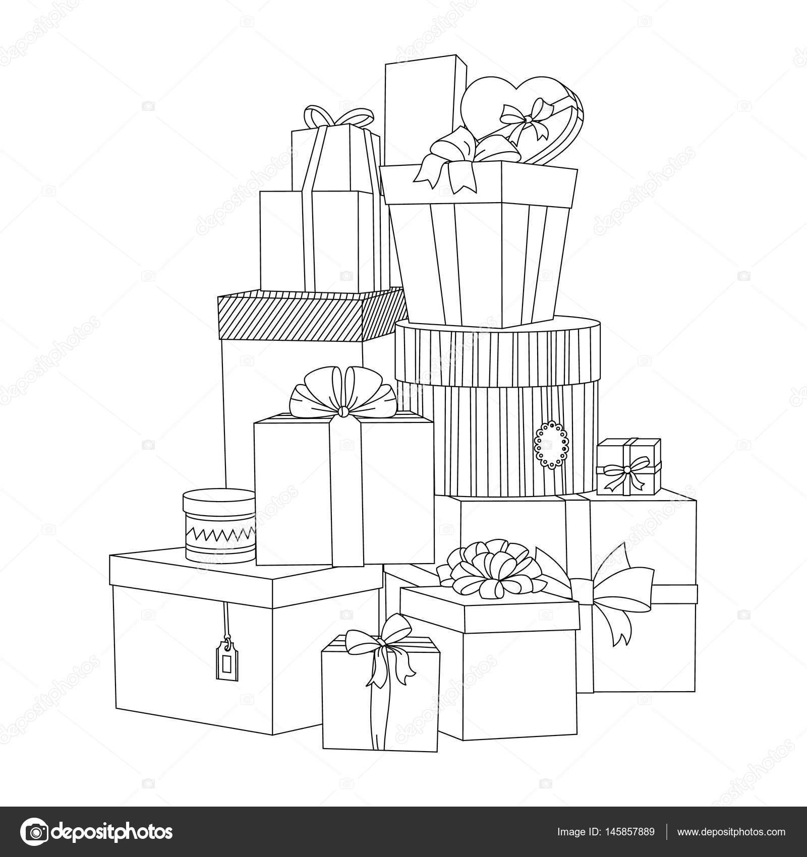Gros Tas De Coffrets Cadeaux Emballés Belle Boîte Boîte Cadeau