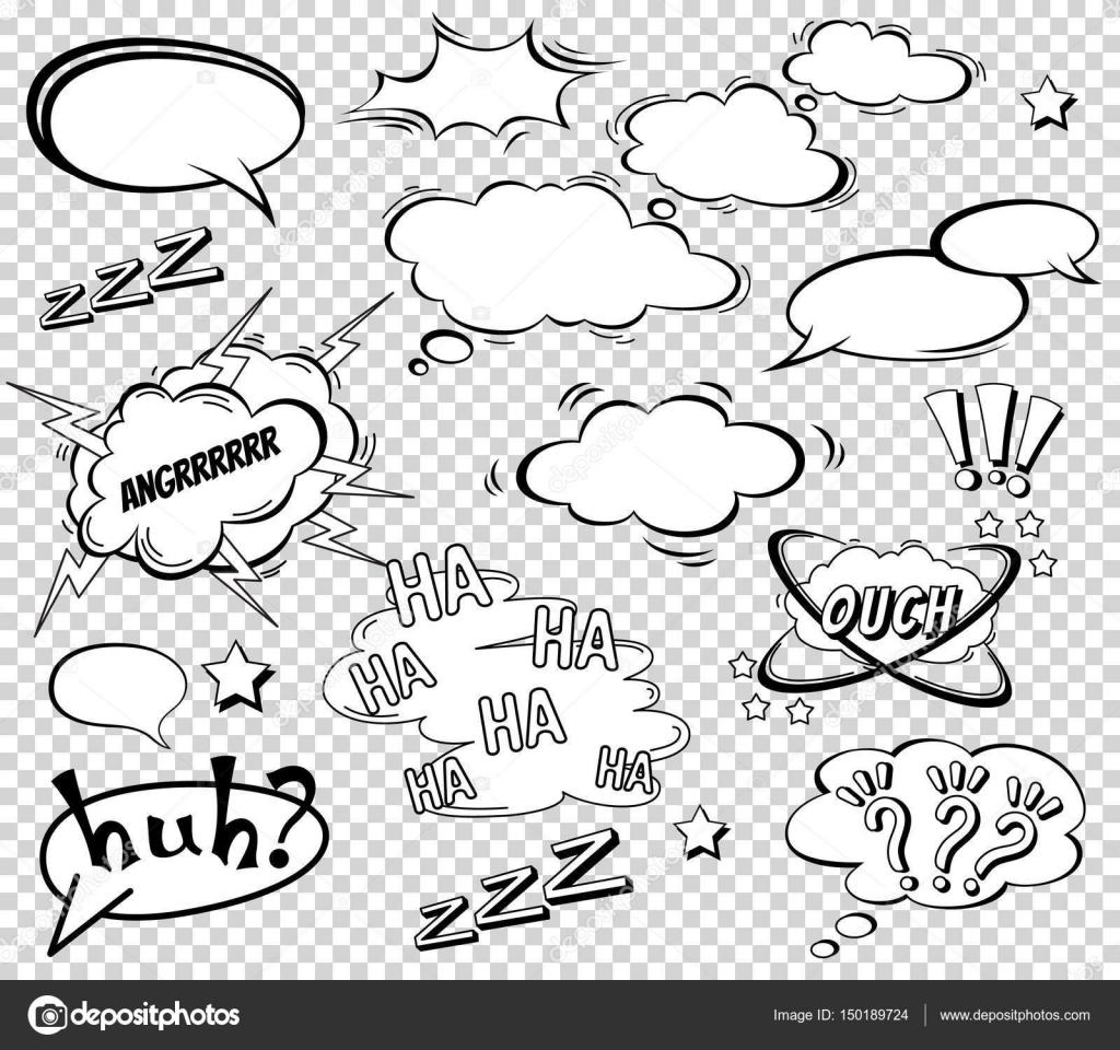 Connu ensemble de dessin animé, BD bulles, nuages de dialogue vide dans  BO45