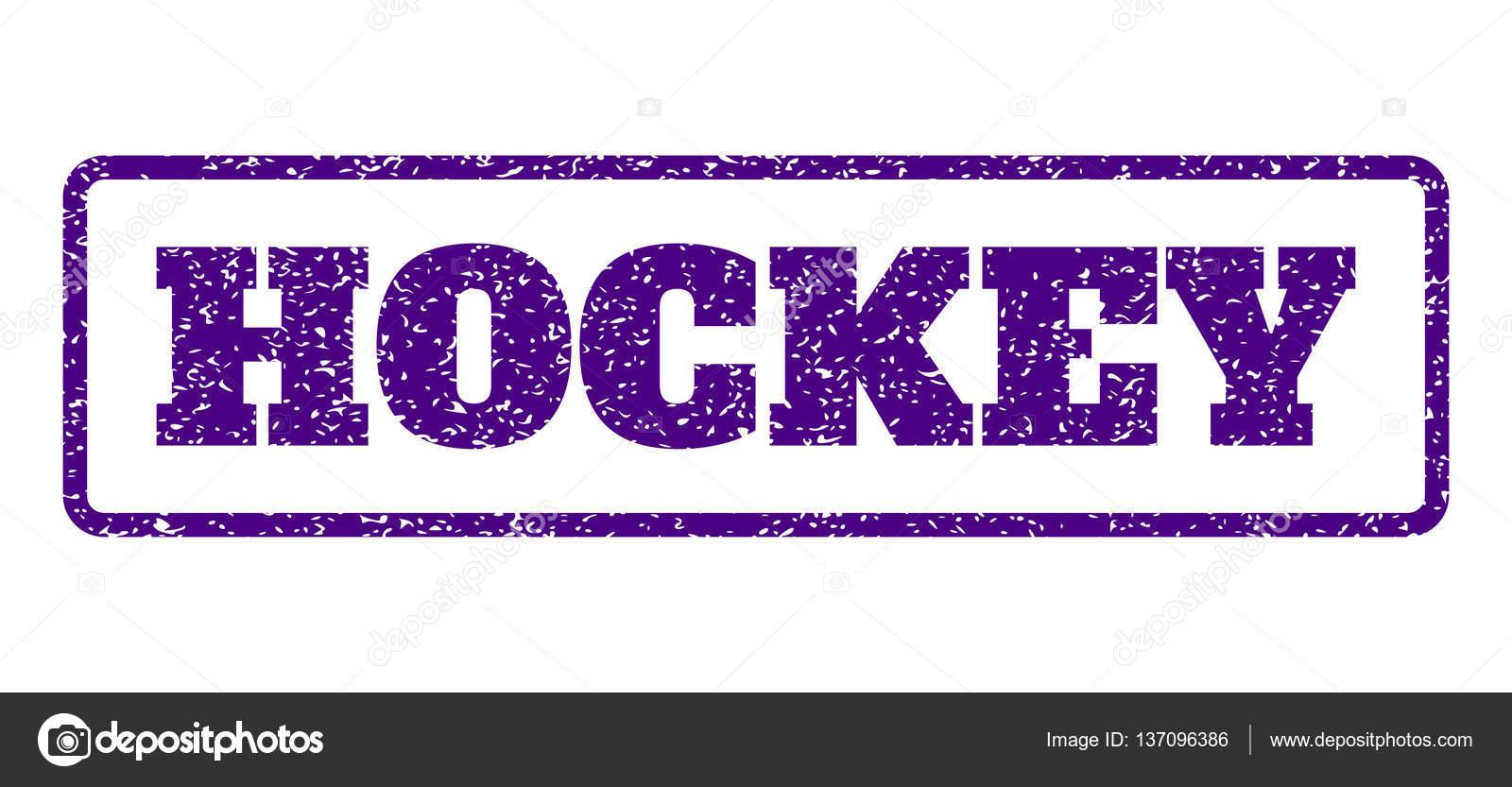 Sello de goma de hockey — Archivo Imágenes Vectoriales © tatyana ...