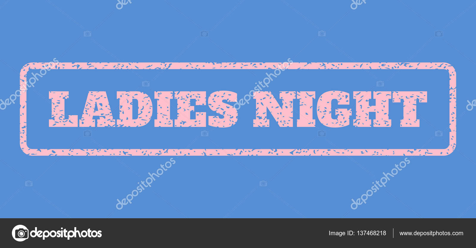 f95ab10331 Ladies Night Rubber Stamp — Stock Vector © tatyana.sibcode.com ...