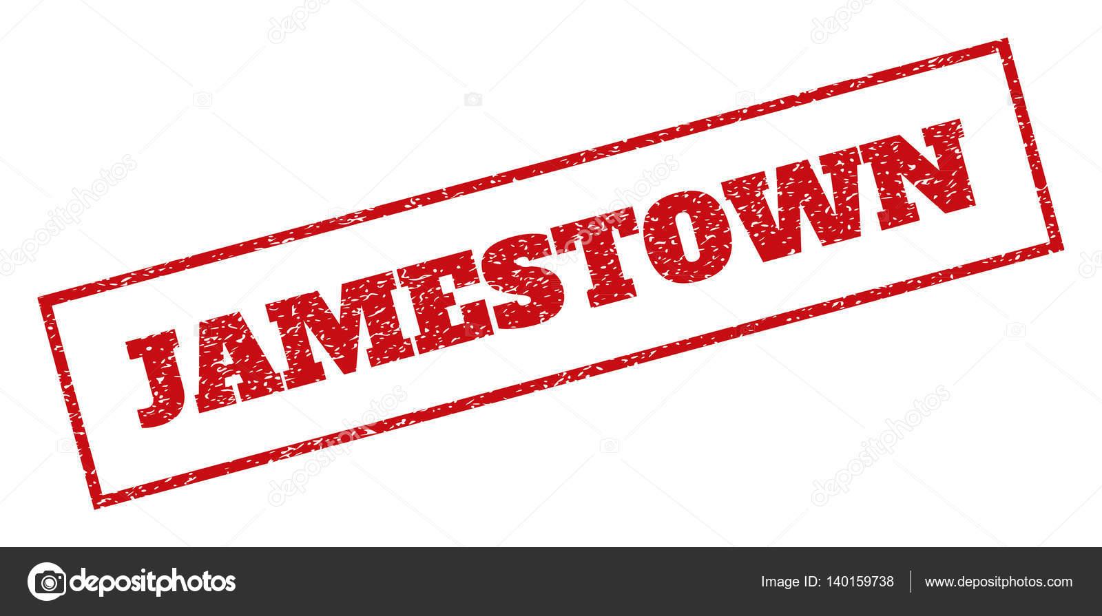 Jamestown Rubber Stamp Stock Vector