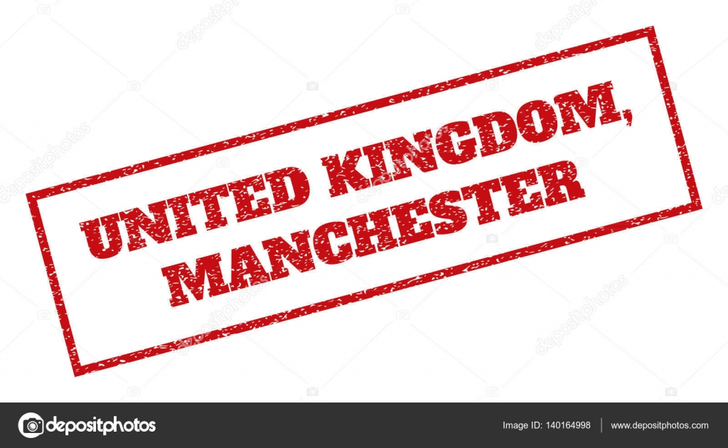 United Kingdom Manchester Rubber Stamp Stock Vector 140164998