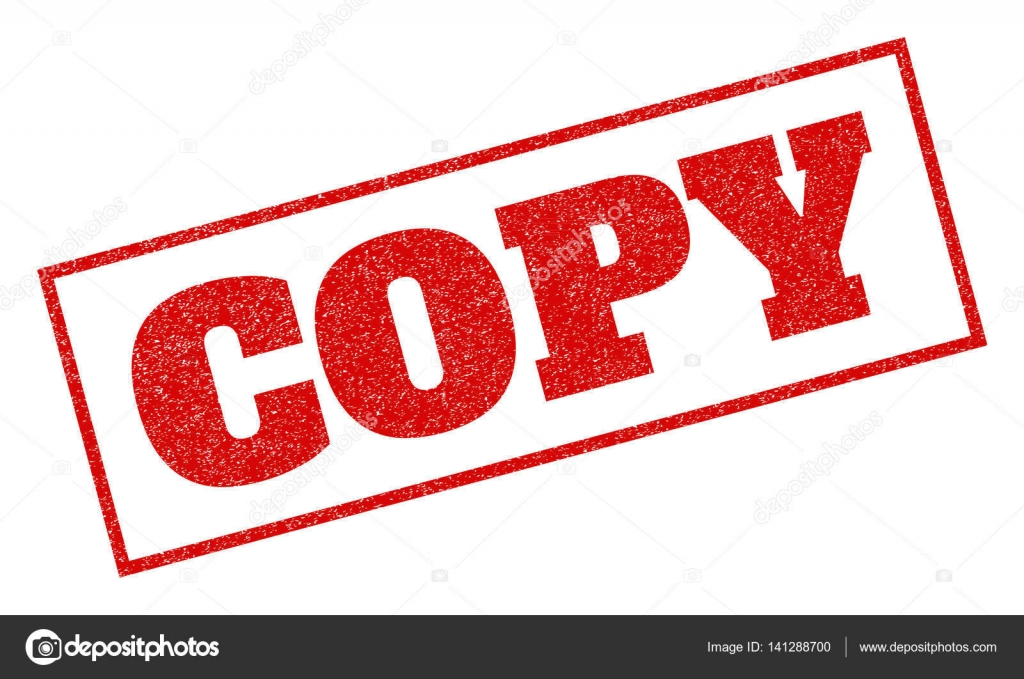 Copy Rubber Stamp Stock Illustration