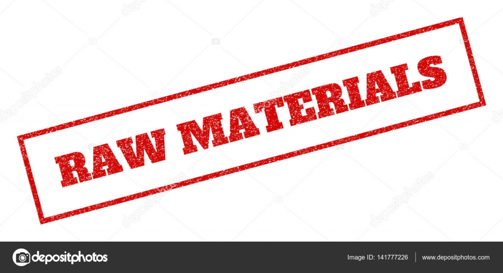 Raw Materials Rubber Stamp Stock Vector