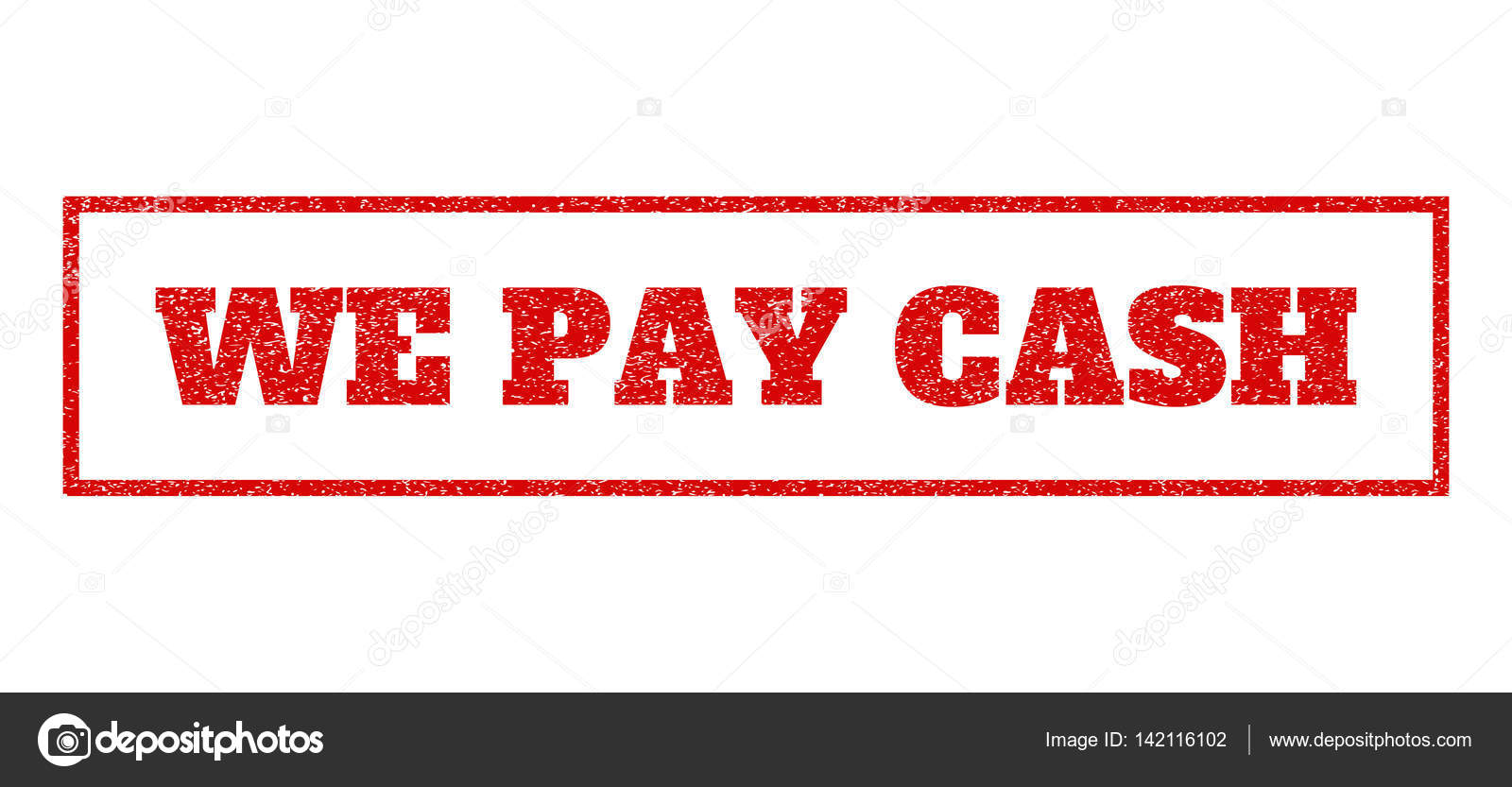 We Pay Cash Rubber Stamp — Stock Vector © tatyana.sibcode.com #142116102