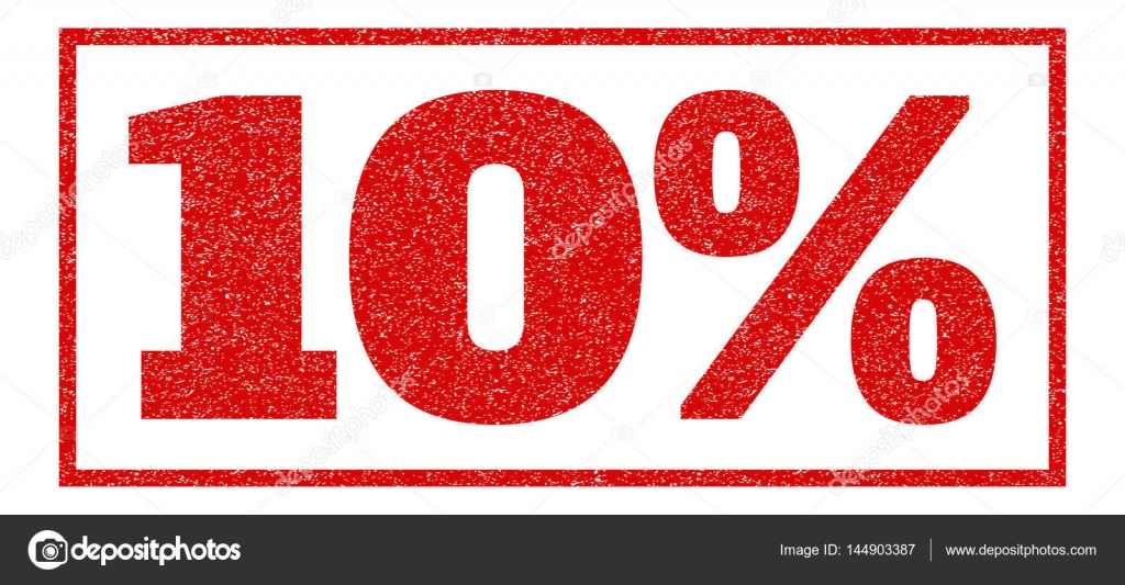 sello de goma de 10 por ciento — Vector de stock © tatyana.sibcode ...