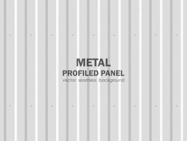Vector illustration: Seamless background of metal profiled panel.