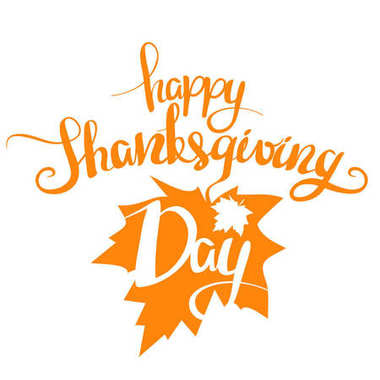 Vector illustration: Orange Handwritten lettering Happy Thanksgiving Day isolated on white background. Calligraphy