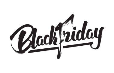 Vector illustration: Handwritten modern brush lettering of Black Friday isolated on white background.