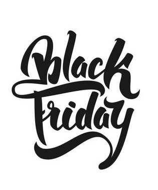Vector illustration: Hand drawn modern brush lettering of Black Friday isolated on white background.