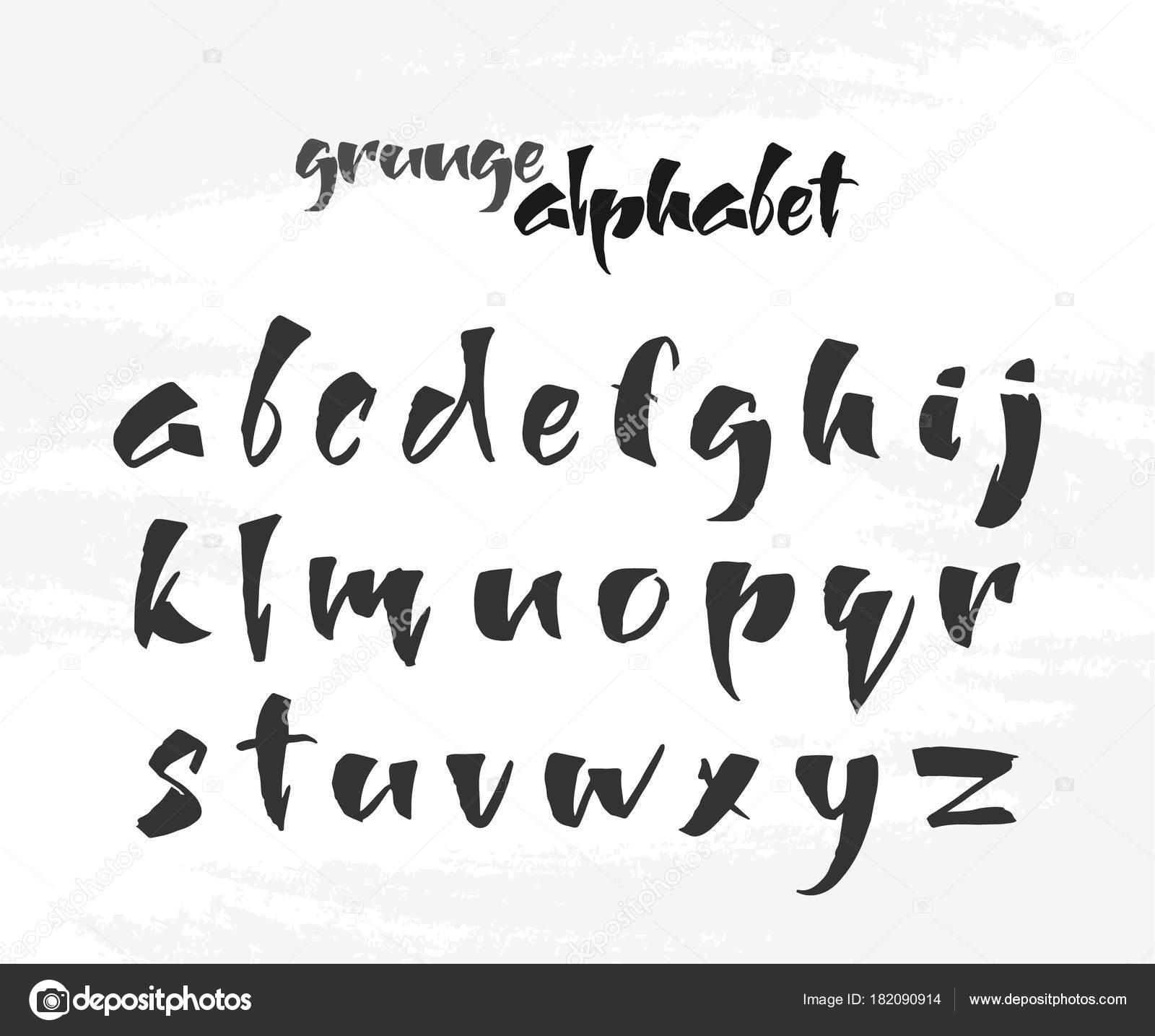 ベクトル イラスト 手描き下ろし英語グランジ アルファベット ホワイト