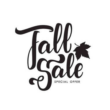Handwritten brush lettering of Fall Sale. Discount special offer.