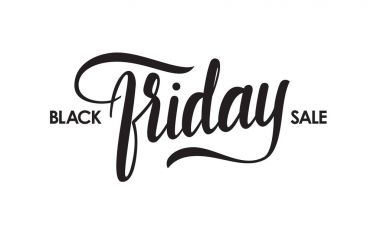 Vector type of Black Friday Sale. Handwritten lettering. Typography design of special offer