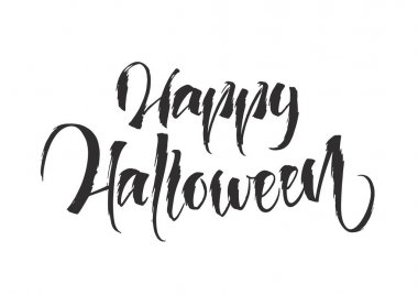 Vector illustration: Handwritten lettering of Happy Halloween