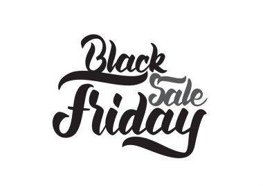 Vector Handwritten lettering of Black Friday Sale. Typography design of special offer