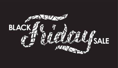 Black Friday Sale. Vector typography design