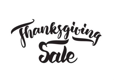 Vector handwritten lettering of Thanksgiving Sale. Typography design