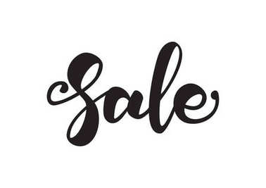 Vector handwritten lettering of Sale. Typography design