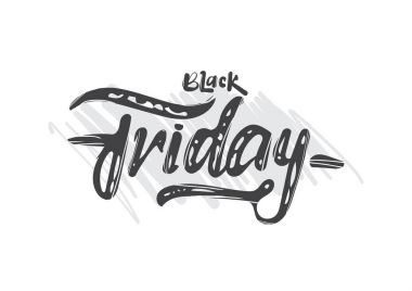 Vector Hand drawn lettering of Black Friday