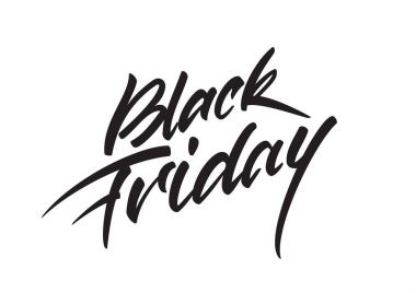 Vector handwritten lettering composition of Black Friday on white backgrounds