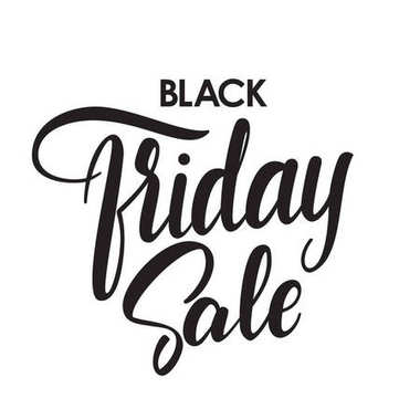 Vector handwritten type lettering of Black Friday Sale on white background