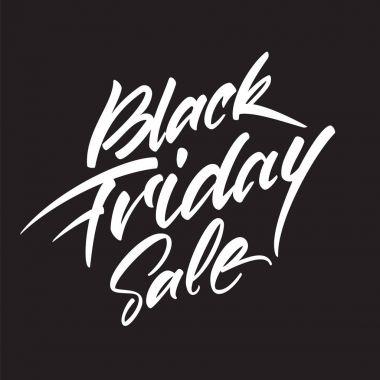 Vector handwritten lettering composition of Black Friday Sale on dark background
