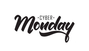 Handwritten type lettering of Cyber Monday