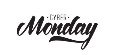 Vector illustration: Hand drawn lettering of Cyber Monday