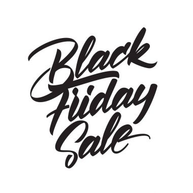 Vector handwritten type lettering of Black Friday Sale isolated on white background