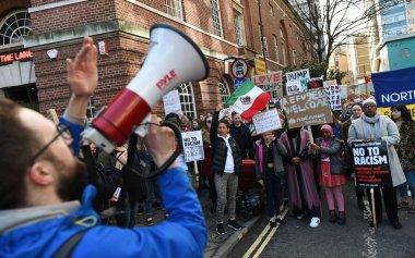 Protestersmarch through the city centre