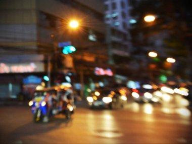 Blurred Traffic in city centre