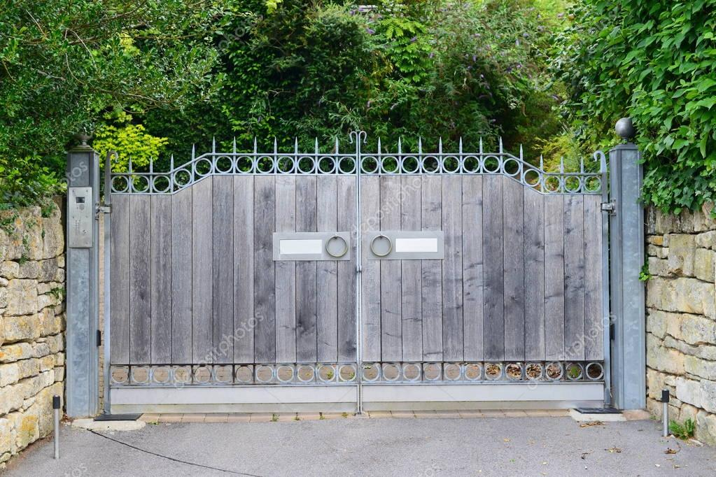 Wooden Gateof Country Home