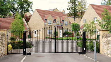 Driveway and Entrance of Upscale Gated Community Housing Estate