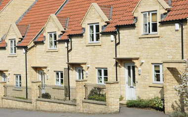 View of Terraced Houses on English Residential Estate