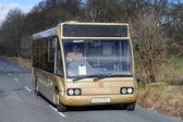 Stonehenge, UK - March 21, 2015: bus ferrying passengers to Stonehenge.