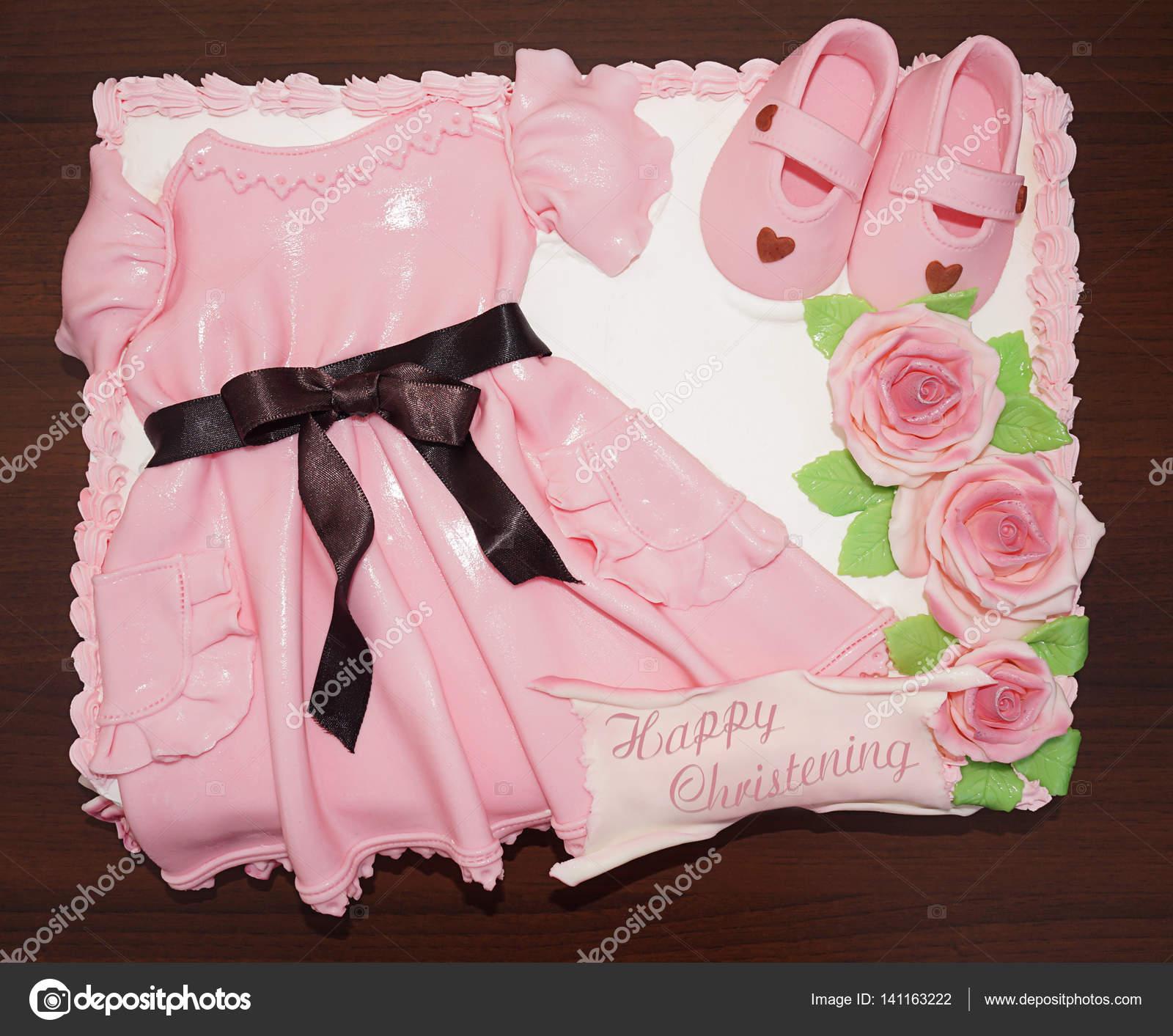Vestido Rosa Pastel Con Zapatos Y Flores Para Bautizo Y Bautismo