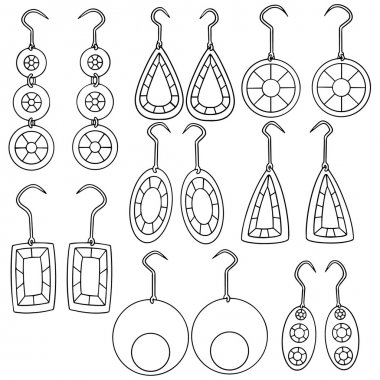 vector set of earrings