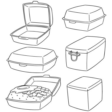 vector set of foam box